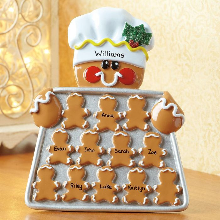 Personalized Gingerbread Easel