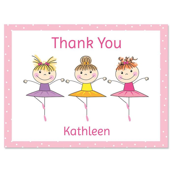 Tiny Dancer Personalized Thank You Note Cards