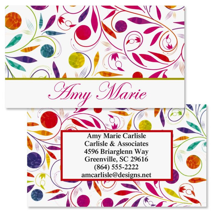 Color swirl double sided business cards current catalog color swirl double sided business cards reheart Gallery
