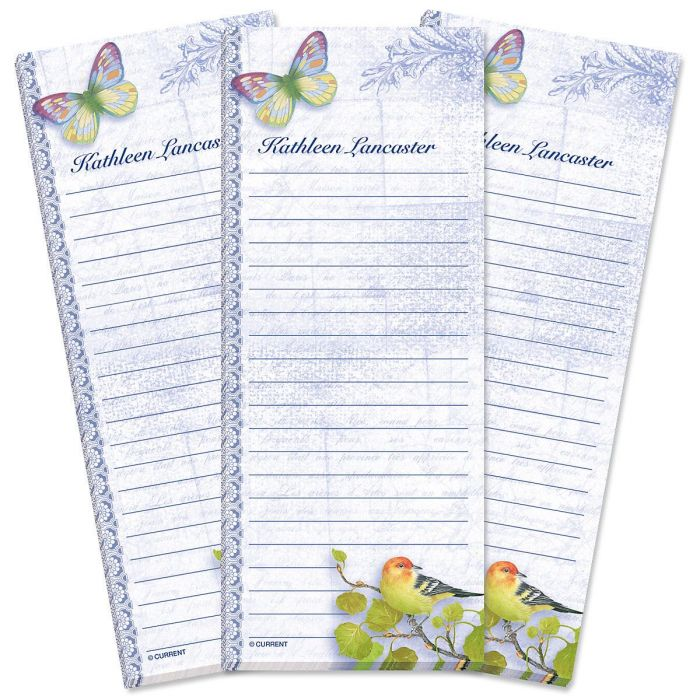 Exotic Prints Lined Shopping List Pads