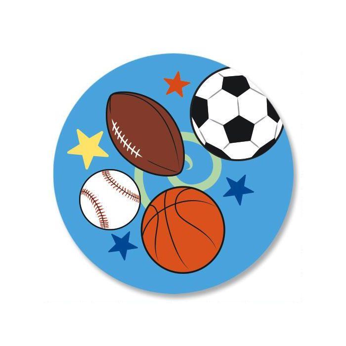 Sports Balls Envelope Sticker Seals