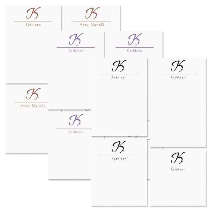 Inspirational Personalized Notepad Set