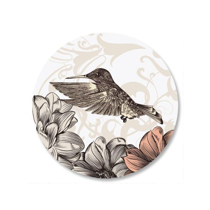 Hummingbird Garden Envelope Sticker Seals