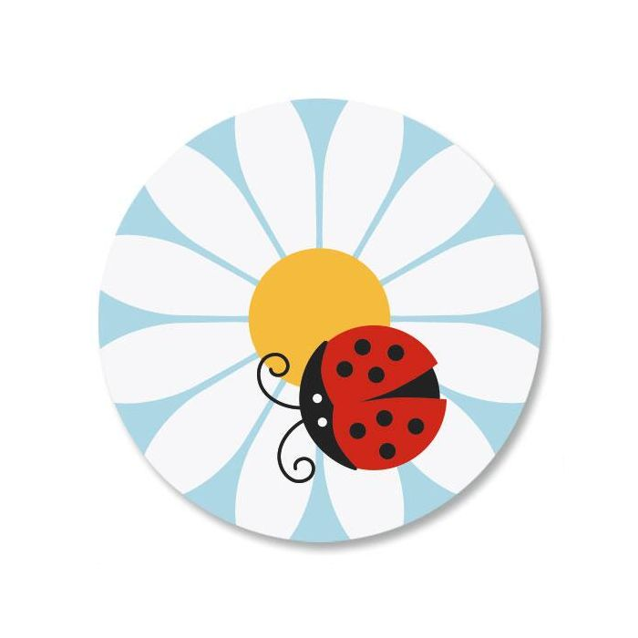 Ladybug Daisy Envelope Sticker Seals