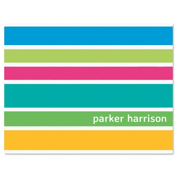 Ribbons Personalized Note Cards