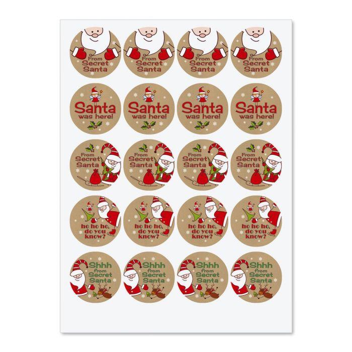 Secret Santa Seals