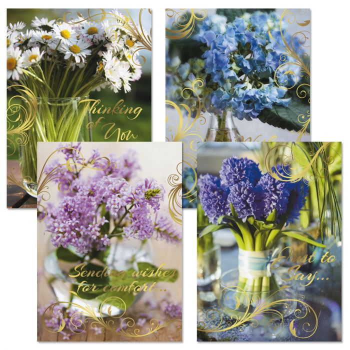 Floral Sympathy Cards and Seals
