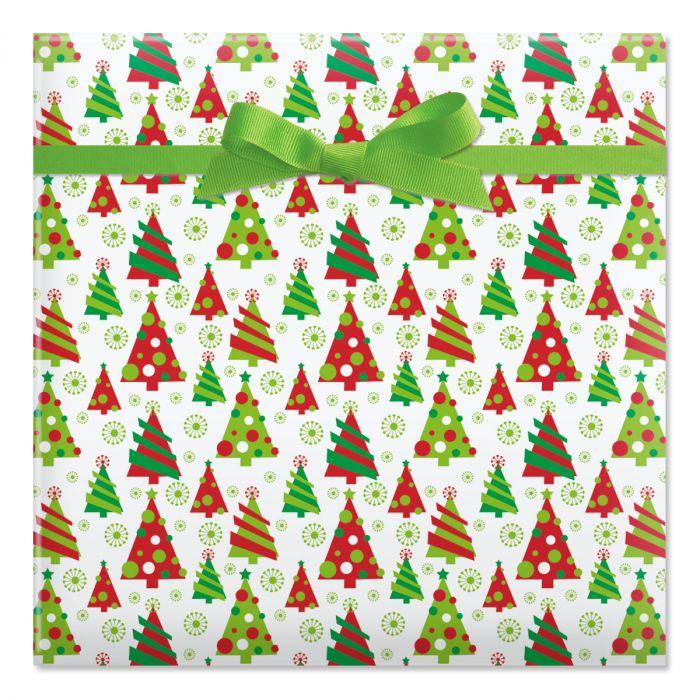Graphic Christmas Tree Jumbo Rolled Gift Wrap