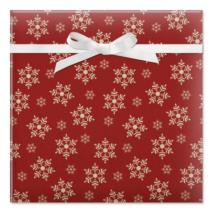 Simple Flakes Jumbo Rolled Gift Wrap