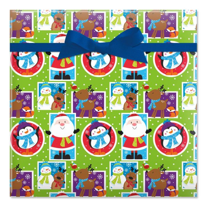 Christmas Icons Rolled Gift Wrap