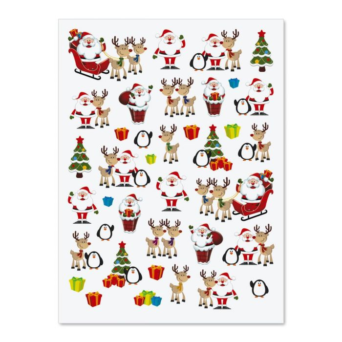 Funny Santa and Reindeer Stickers