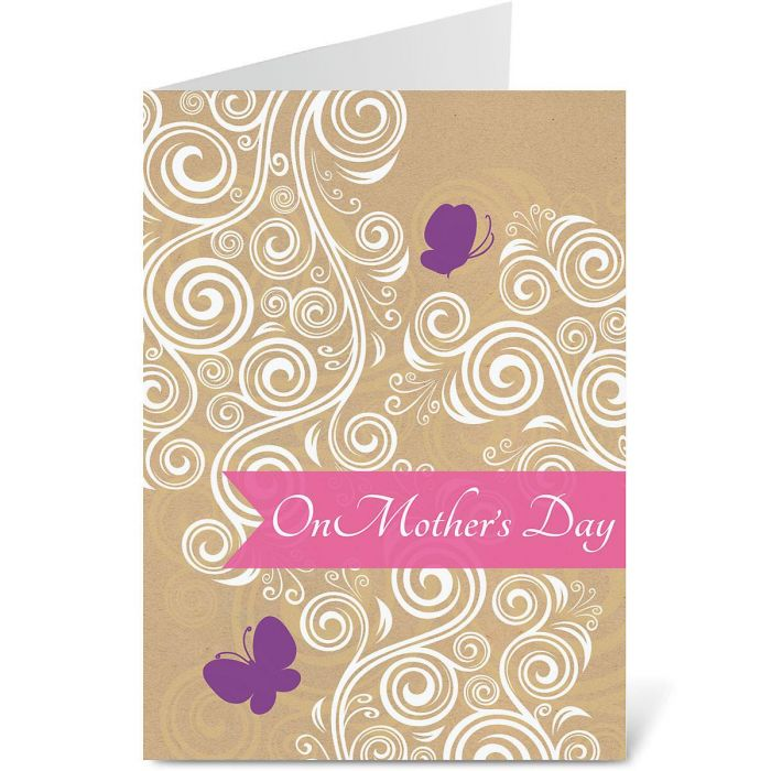 Quiet Moments Kraft Mother's Day Card
