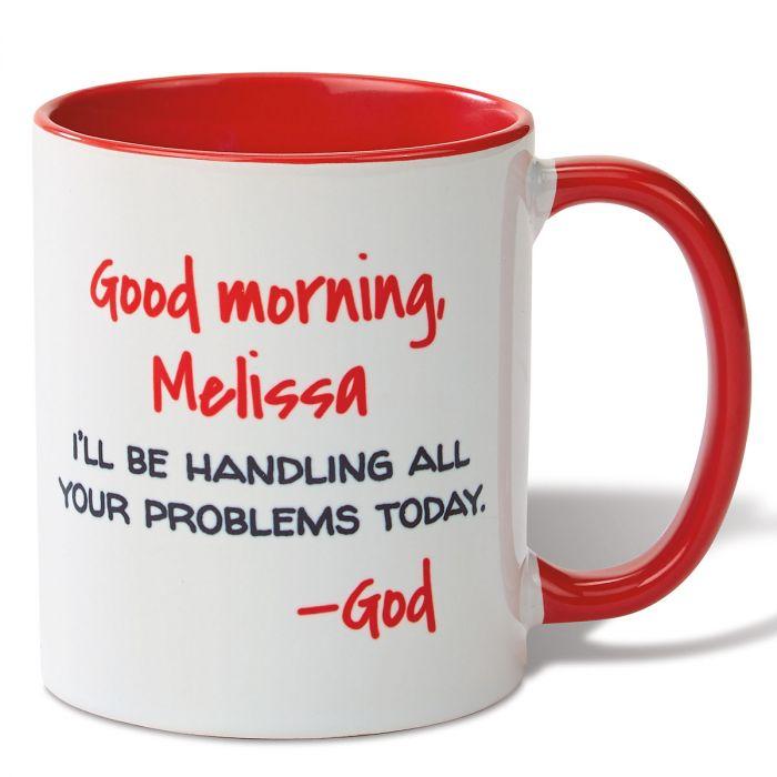 Good Morning Personalized Mug