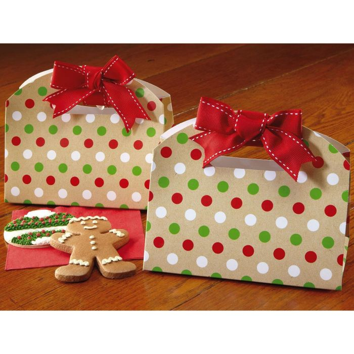 Christmas Dots Cookie Boxes