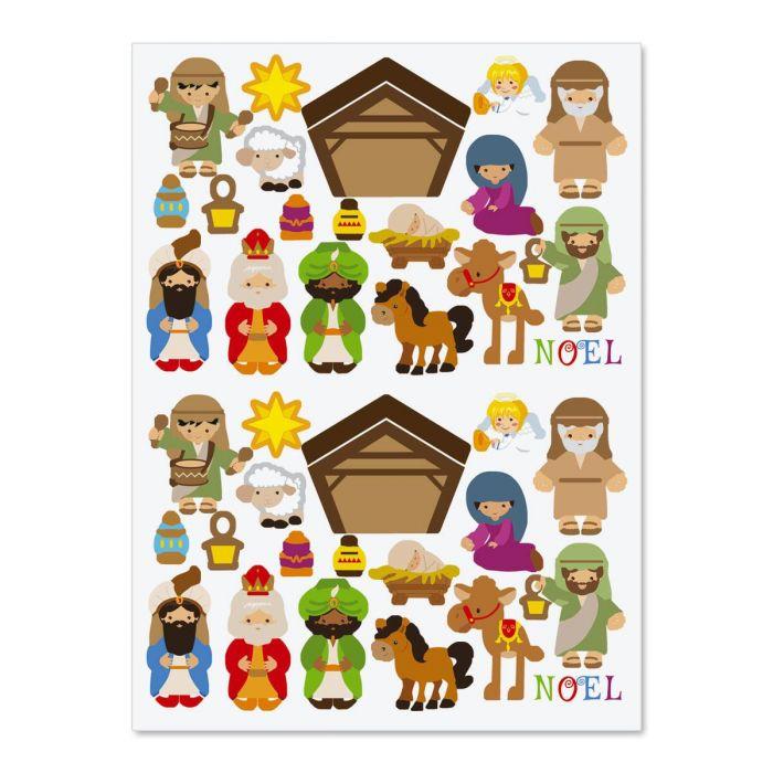 Build-a-Nativity Stickers