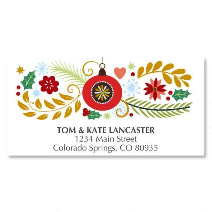 Wreath Wishes Deluxe Address Labels