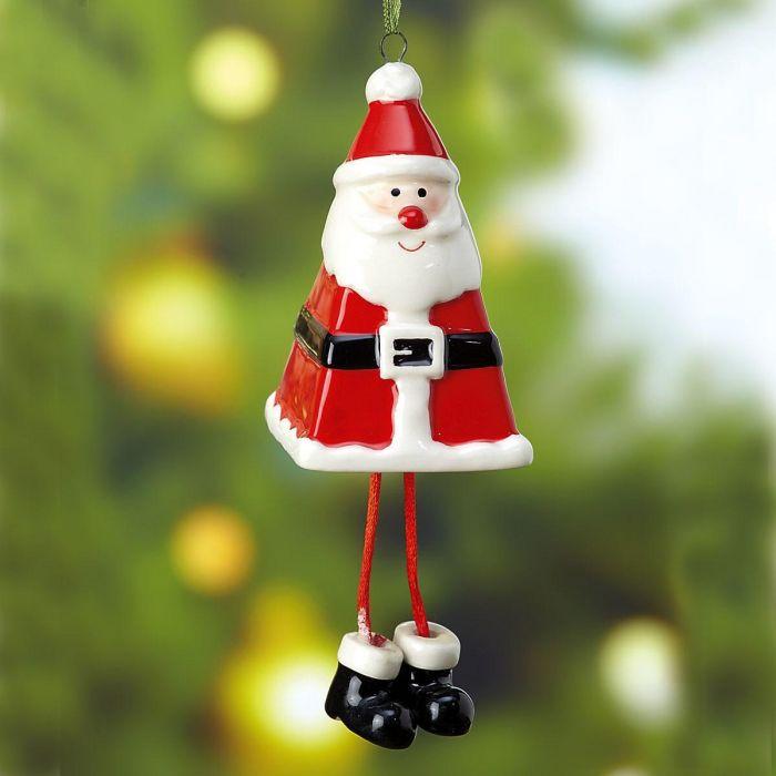 Bell-Shaped Santa Christmas Ornament