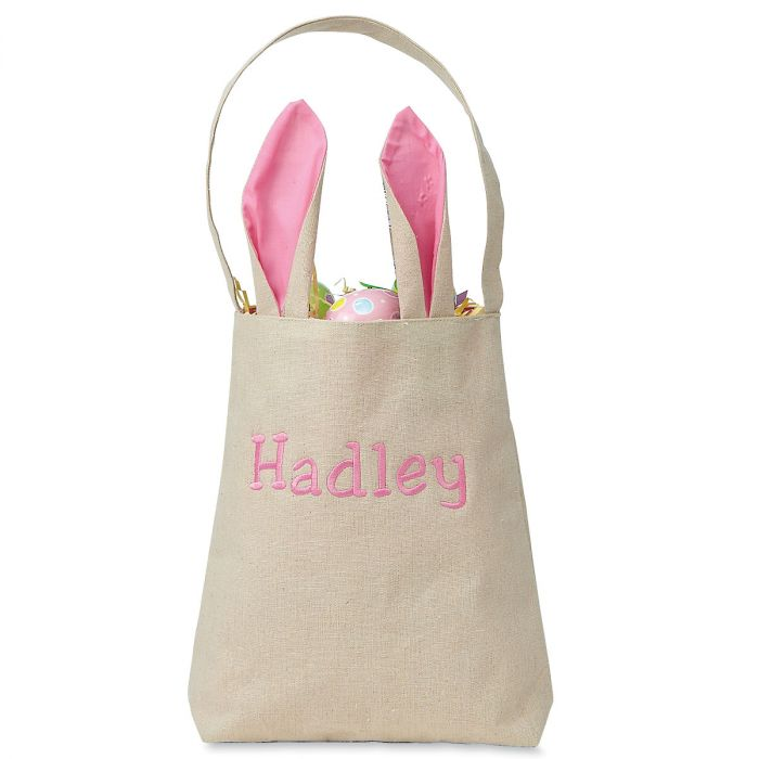 Kids Personalized Pink Easter Tote with Ears