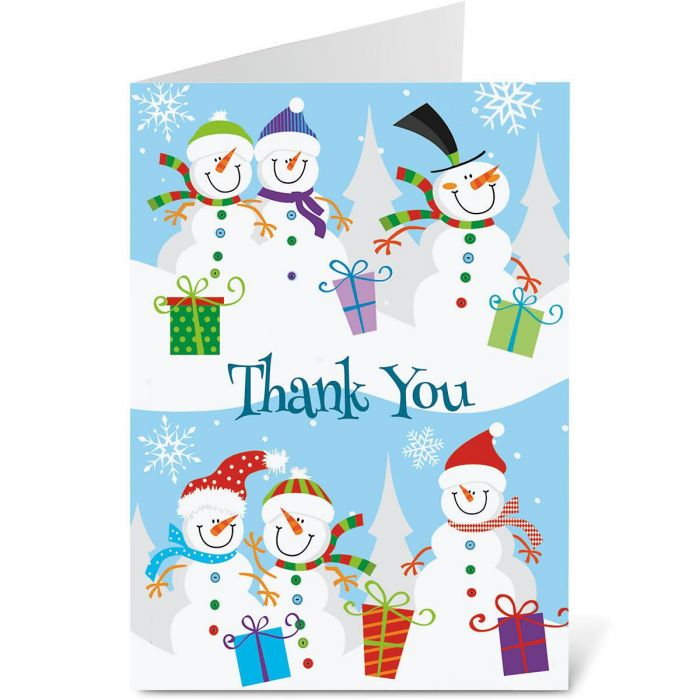Holiday Thank You Note Cards - BOGO