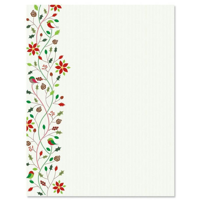 Holiday Twist Christmas Letter Papers