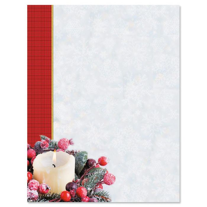 Candlelight Holiday Christmas Letter Papers