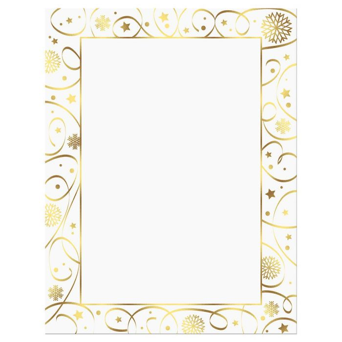 Ribbon Border Deluxe Christmas Letter Papers