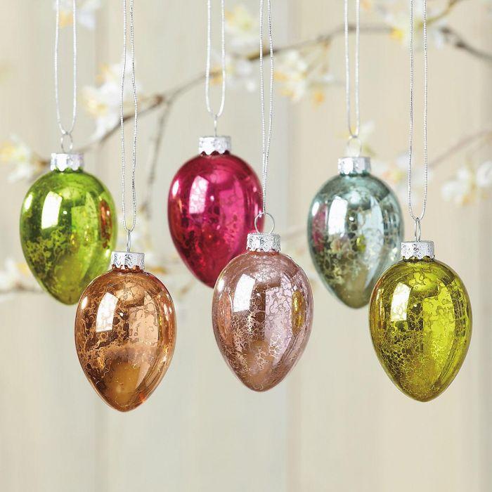 Crackle Finish Eggs Ornaments