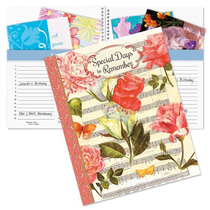 Roses Greeting Card Organizer Book