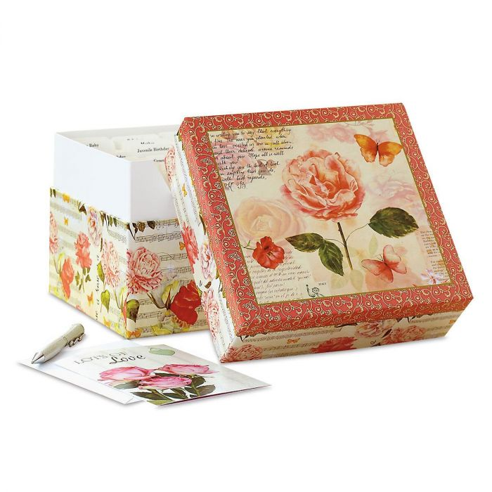 Roses Greeting Card Box and Labels