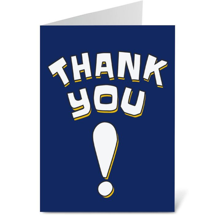 Shout Out Thank You Note Cards