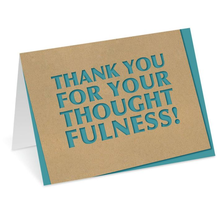 Thoughtfulness Thank You Note Cards