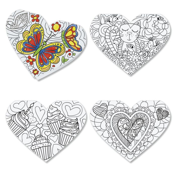 Diecut Coloring Hearts