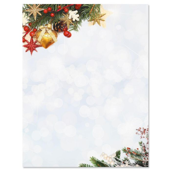 Holiday Sparkle Christmas Letter Papers