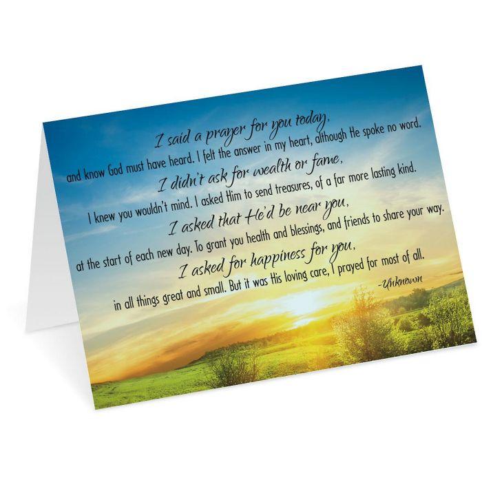 Said a Prayer Note Cards