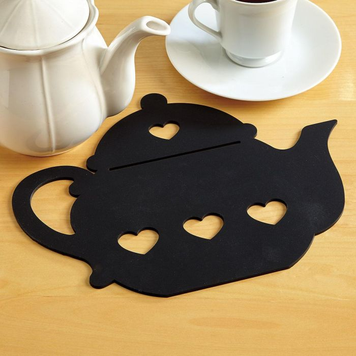 Teapot with Hearts Silicone Trivet