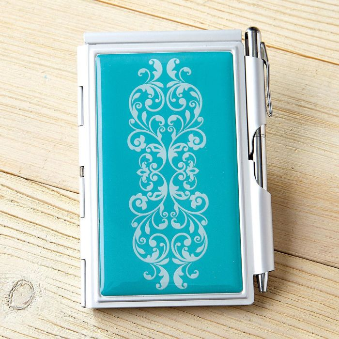 Scroll Pattern Notepad & Pen