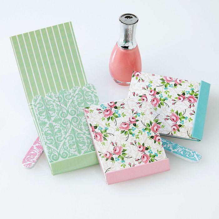 Vintage Flowers Matchbook Emery Boards - BOGO