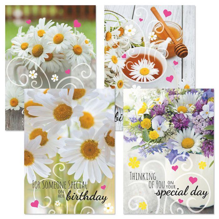 Daisy Birthday Cards and Seals