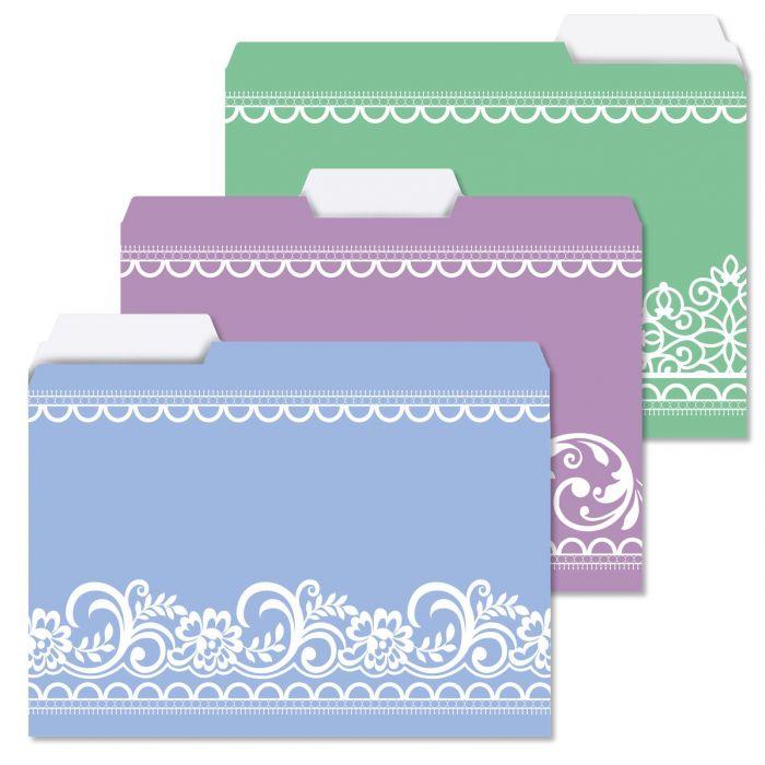 A Little Bit of Lace File Folders
