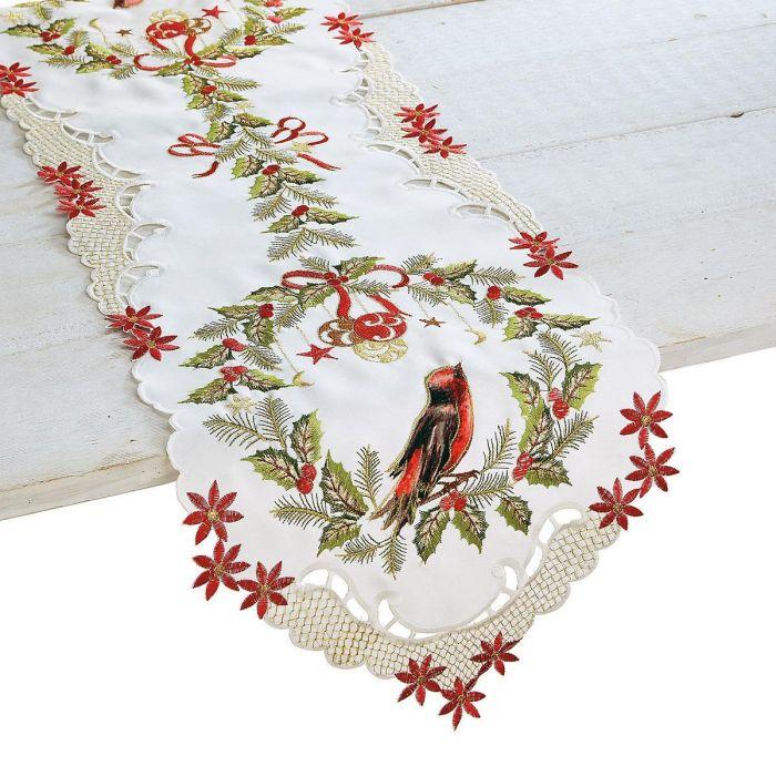 Christmas Wreath Table Runner