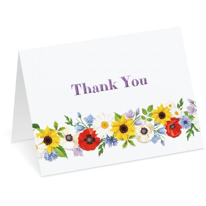 Poppies, Sunflowers & Daisies Note Cards