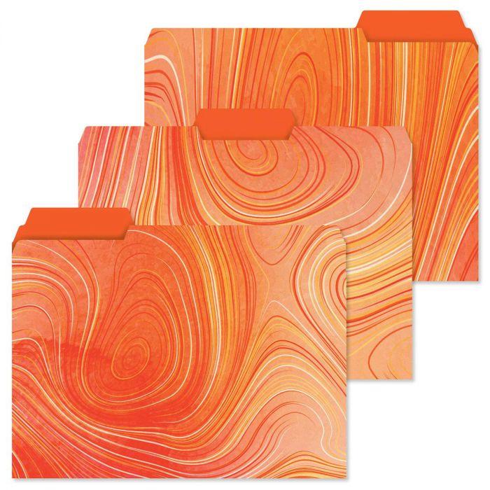 Swirly File Folders