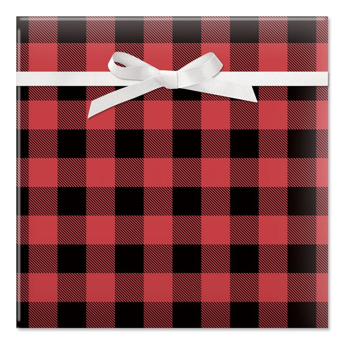 Buffalo Plaid Jumbo Rolled Gift Wrap