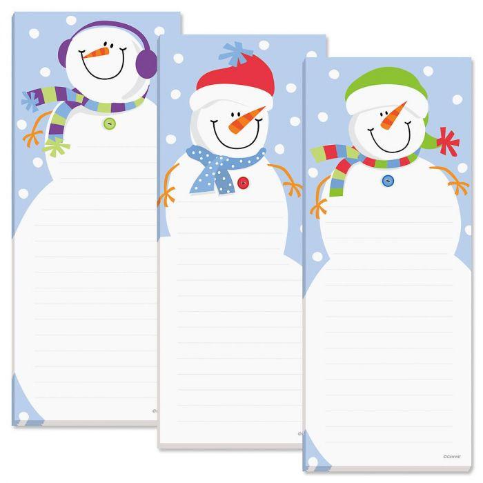 Snowman Shopping List Pads