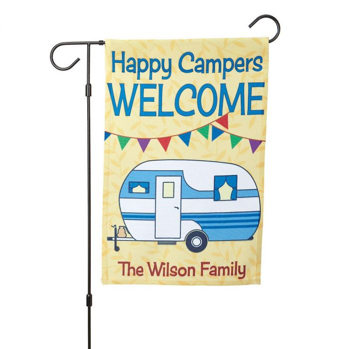 Personalized RV Garden Flag and Garden Flag Stand