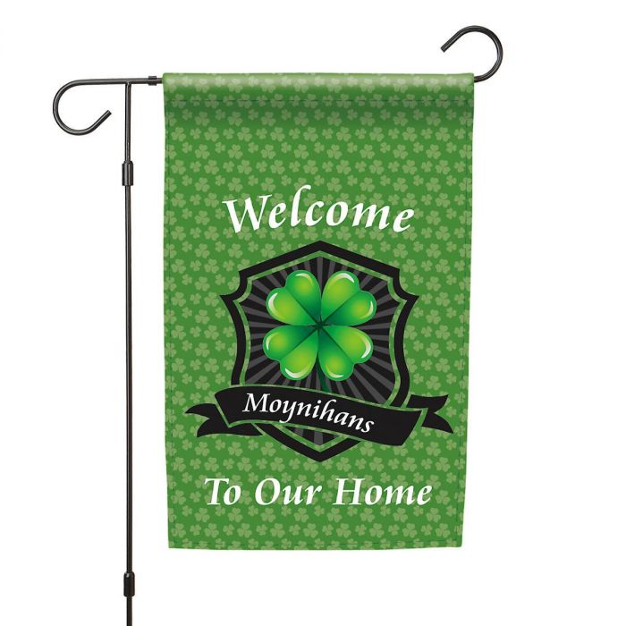 Personalized Irish Garden Flag and Garden Flag Stand