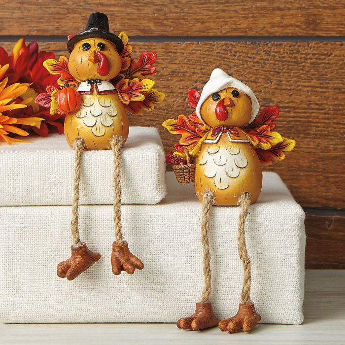 Turkey Shelf-Sitter Pair