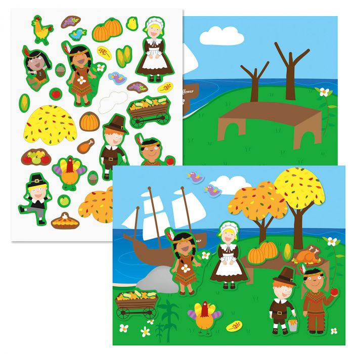 Thanksgiving Sticker Scenes and Stickers