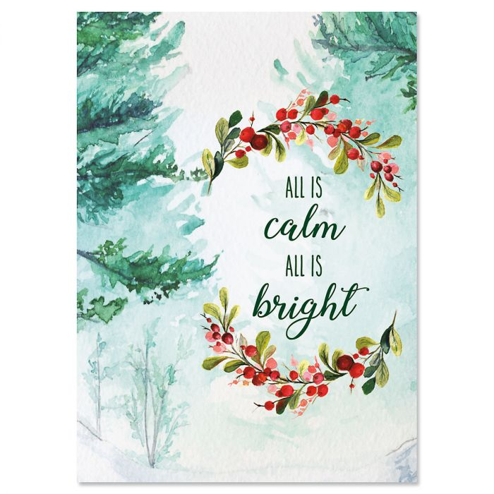 Calm and Bright Christmas Cards