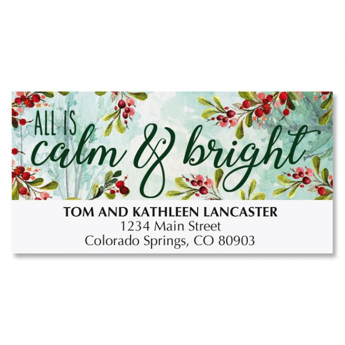 Calm and Bright Deluxe Address Labels